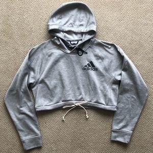 ADIDAS crop hoodie small